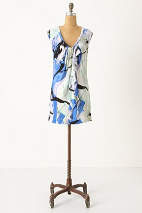 Lake Reflection Tunic - Anthropologie.com :  splashed ruffle tunic watercolor