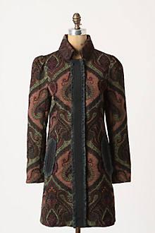 Ruffled Tapestry Coat