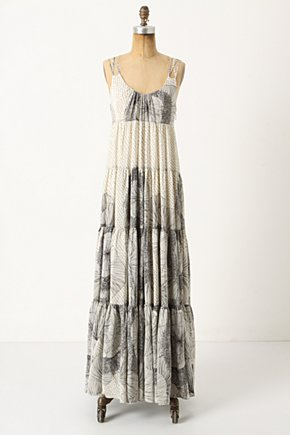 Floral Sketch Maxi Dress - Anthropologie.com :  nature inspired silk spaghetti straps maxi dress