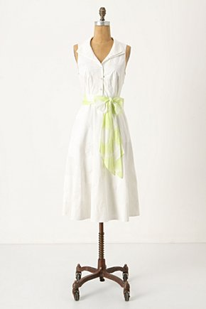Nuit Blanche Dress - Anthropologie.com :  shirt dress printed lime sash