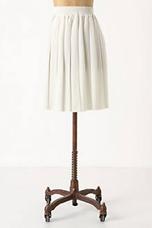 Frayed Pleats Skirt