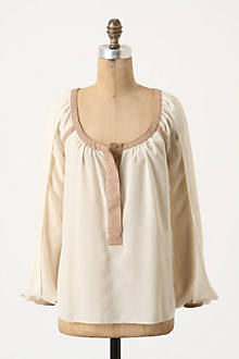 Parted Peasant Blouse