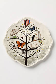 Curious Deciduous Dinner Plate