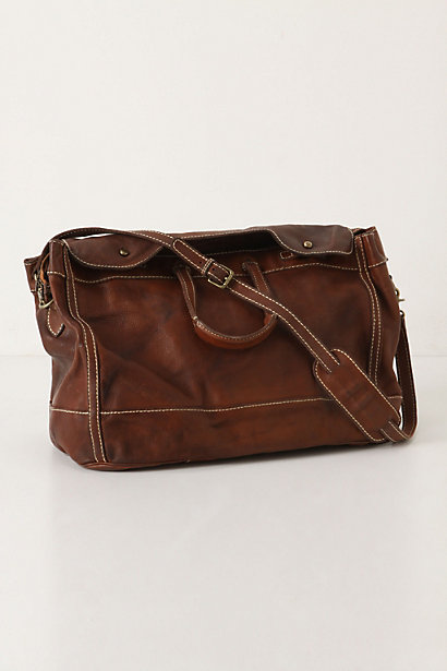 Tiergarten Weekender - Anthropologie.com :  chestnut leather tote chocolate