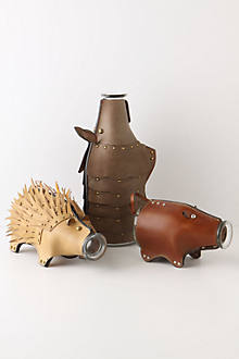 Leather Animal Carafes