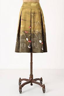 Feathered Village Skirt