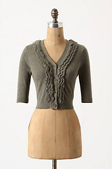Goffered Front Cardigan