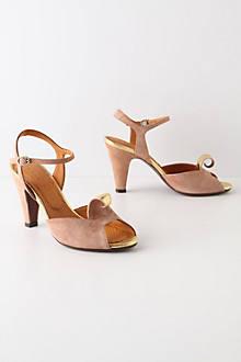 Furled Gold Heels