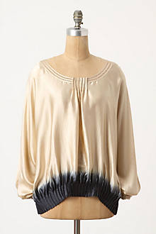 Dipped Silk Blouse