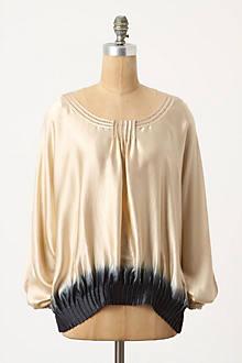 Dipped Silk Blouse