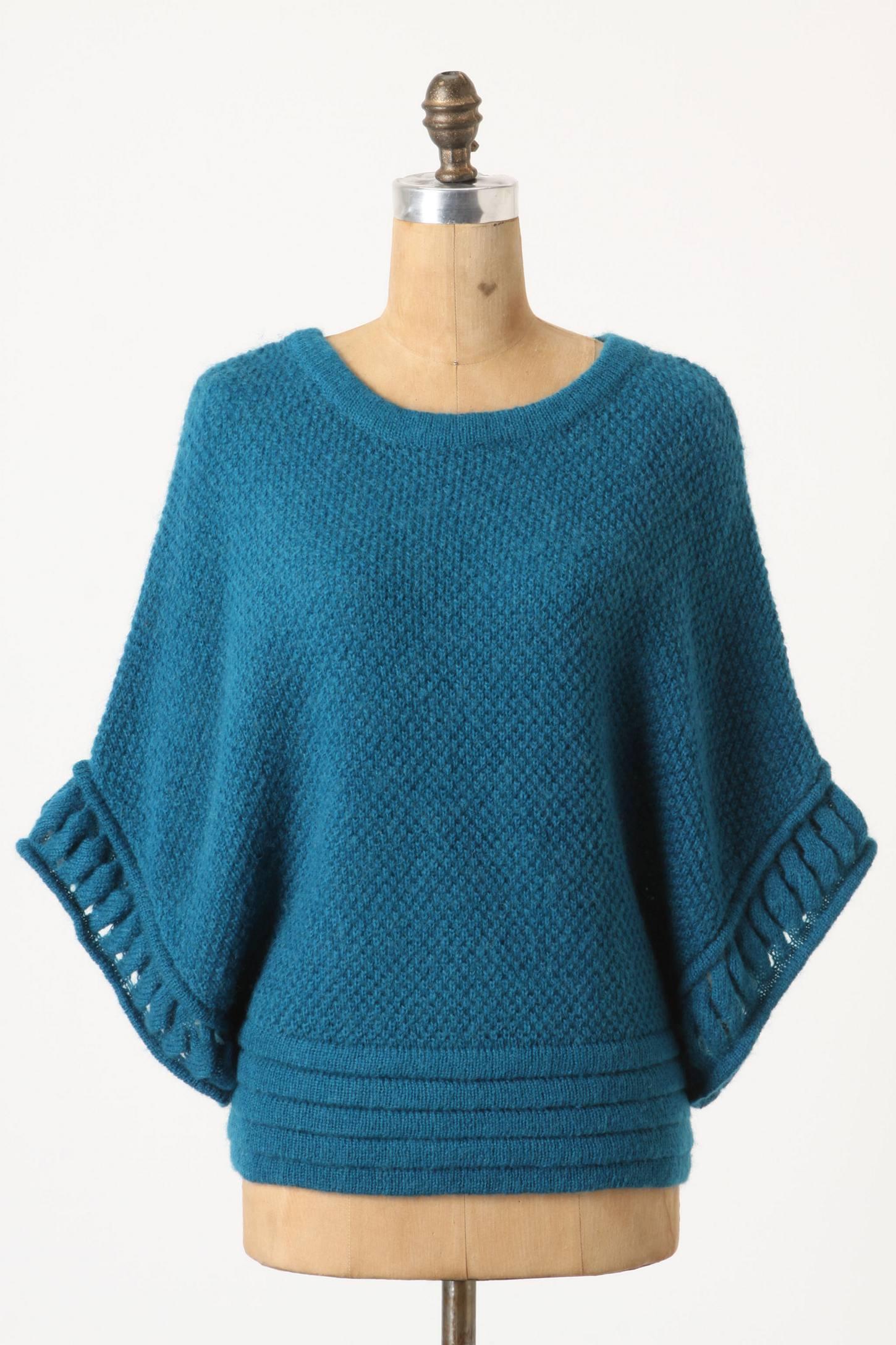 Асимметричный свитер спицами японских дизайнеров