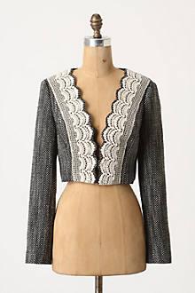Doily Lapel Coat