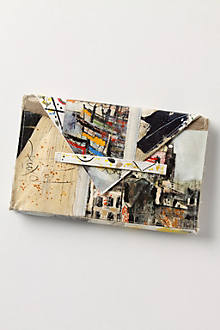 Brushstrokes Still Life Clutch, City Scene