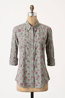 Embroidered Eyelet Buttondown