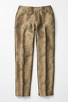 Gilded Jacquard Crops