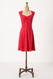 Raspberry Jacquard Dress