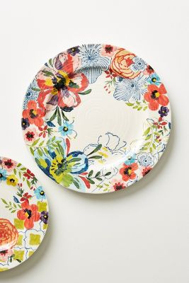 Dinnerware sets dinner plate collections anthropologie for Calligrapher canape plate