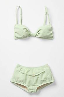 Sherbet Seersucker Bikini