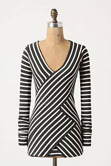 Striped Intersection Top