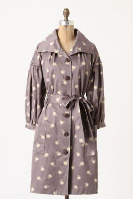 Lila-Dotted Trench