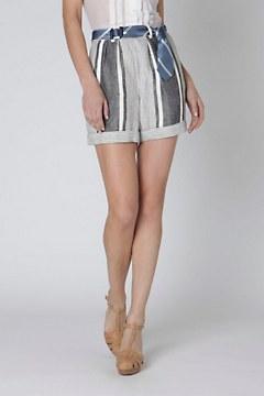 High-Waist Bandes Shorts