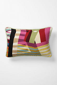 Colorfield Collage Pillow, Large