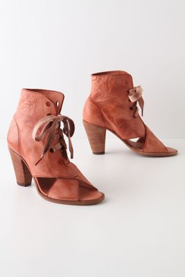 Tie-Crossed Leather Boots