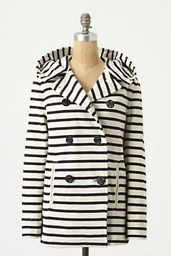 Striped Jersey Peacoat