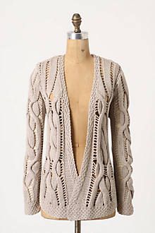 Openwork Cables Cardigan