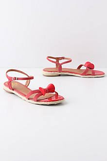 Glossed Bow Sandals