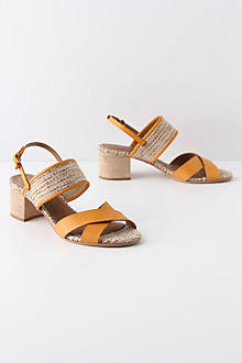 Marigold Crossed Slingbacks