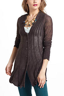 Rumpled & Shirred Cardigan