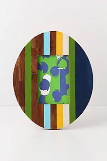 Oval Inset Stripes Frame