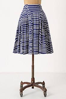 Zagged Stripes Skirt