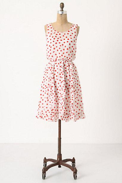 Cerise Stamped Dress
