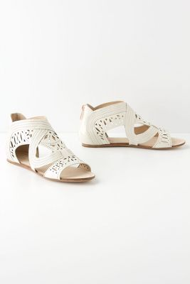 Carved Cream Sandals