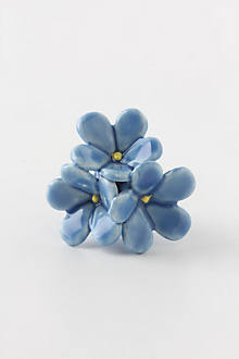Floral Burst Knob, Forget-Me-Not