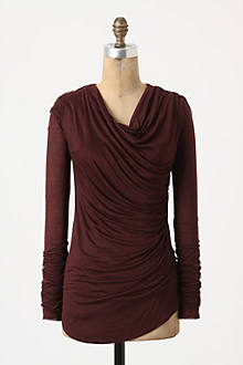Wrapped-Ruched Tee