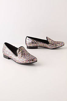 Glitter Imbued Loafers