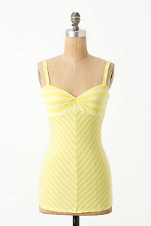 Ruched Stripes Tank