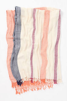 Crinkled-Stripe Throw