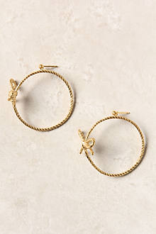 Glistening Ribbon Hoops