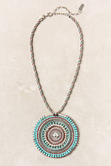 Woven Medallion Necklace