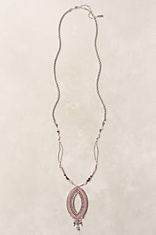 Woven Navette Necklace