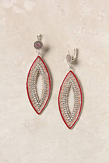 Woven Navette Earrings