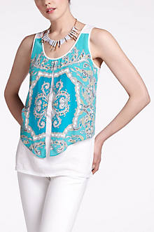 Parted Paisley Tank