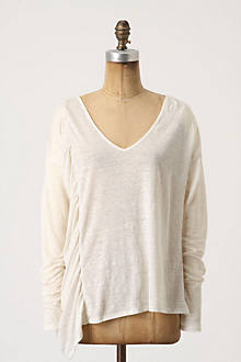 Side-Swept Frill V-Neck