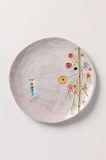 Artful Dinner Plate, Upward Blooms