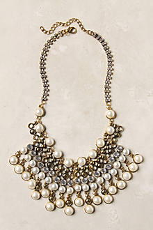 Spiked Beads Bib Necklace