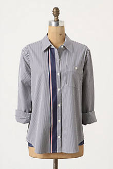 Grosgrain Trimmed Buttondown